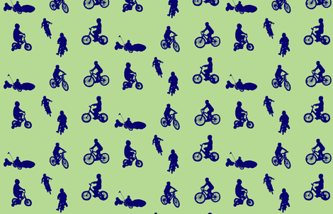 cycling fabric by serenity_ii on Spoonflower - custom fabric