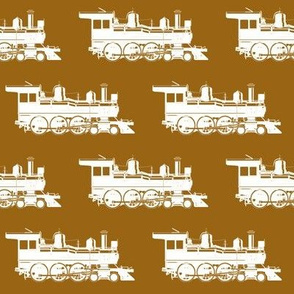 Steam Engines on Golden Brown // Large