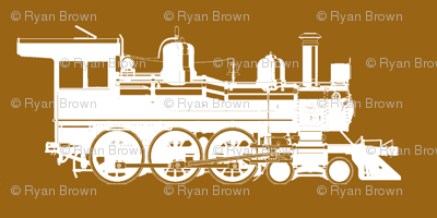 Steam Engines on Golden Brown // Small