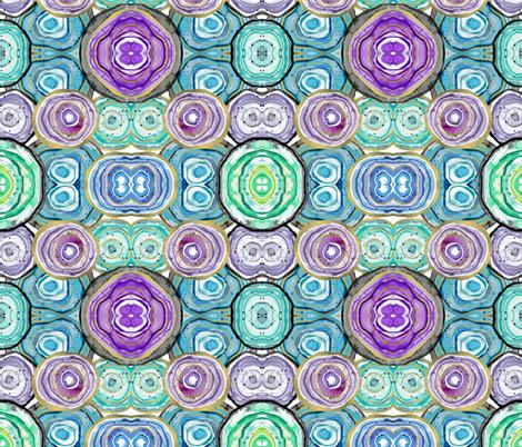 Geode kaleidoscope  fabric by sparklepriestess on Spoonflower - custom fabric