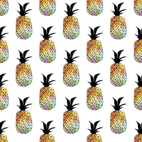Rainbow Pineapple Pattern