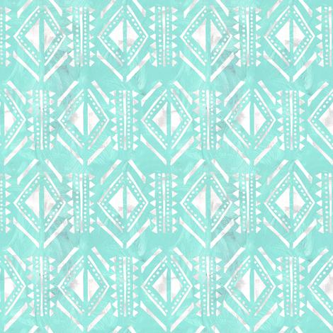 kahala pattern mint fabric by schatzibrown on Spoonflower - custom fabric