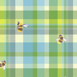 bees plaid