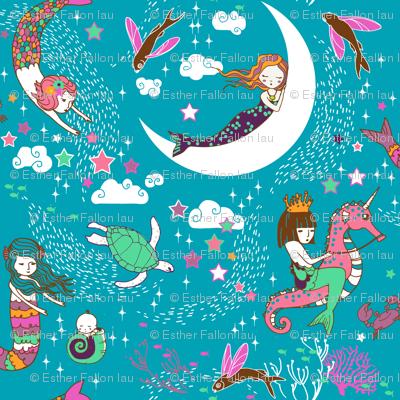 Mermaid Lullaby (MICRO) teal