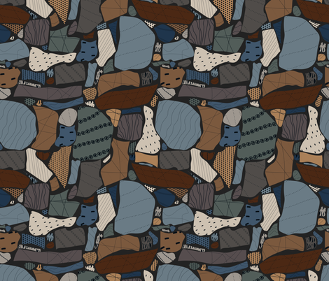 Geology Rocks fabric by meredith_watson on Spoonflower - custom fabric