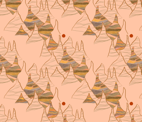 Painted Desert fabric by yellowsunlisa on Spoonflower - custom fabric