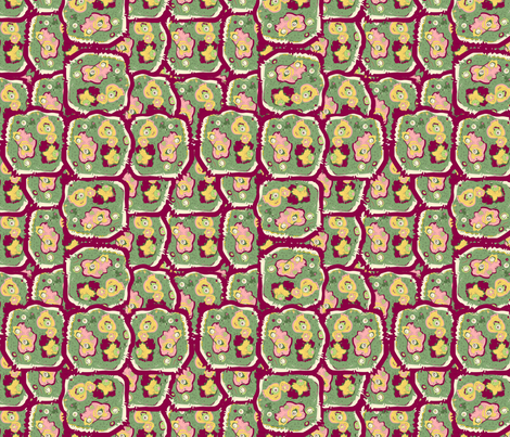 Victoria Quadrangle on Mercury fabric by invintaged_miss on Spoonflower - custom fabric