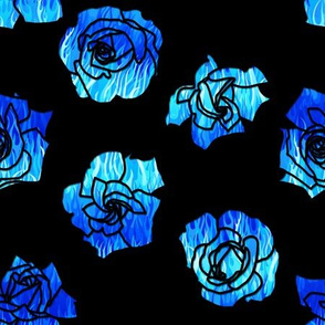 Flaming Roses Blue