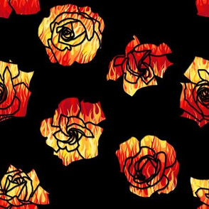 Flaming Roses Red