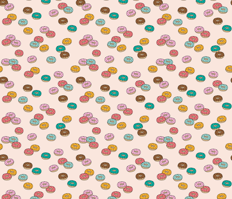 Donut fabric by make_and_tell on Spoonflower - custom fabric