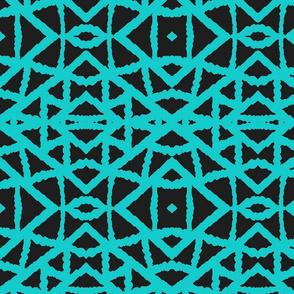 Ziwa Ziwa Geo 8 in Turquoise & Black