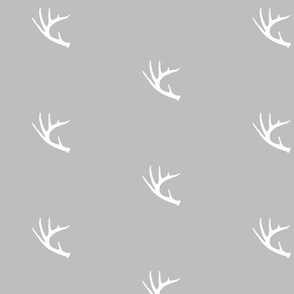 Antler On Grey
