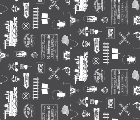Railroad Symbols - Custom fabric by thinlinetextiles on Spoonflower - custom fabric
