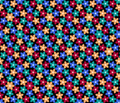 07473086 : U65 flowers 2x2 : fishy fabric by sef on Spoonflower - custom fabric