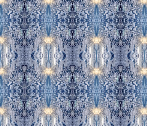 Patterns of Nature - Blue fabric by eleyan on Spoonflower - custom fabric