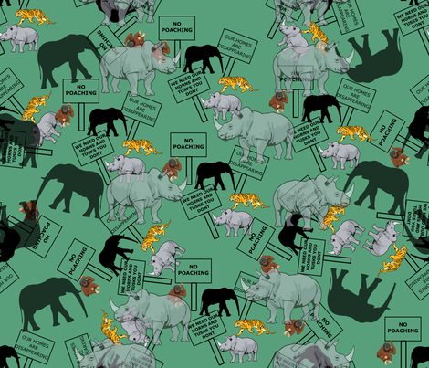 ANIMALS4 fabric by mrpeabodydesigns on Spoonflower - custom fabric