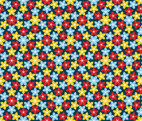 07473270 U65 Flowers 3 Sailing Fabric Sef Spoonflower