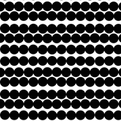 Scandinavian dots black dots black and white circles