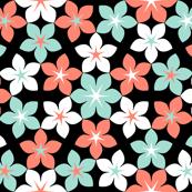 07473517 : U65 flowers 3 : coral-mint