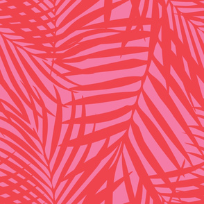 fronds orange on pink