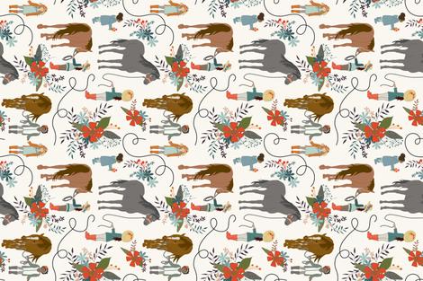 Dreaming - ROTATED -  HWhite  fabric by fernlesliestudio on Spoonflower - custom fabric