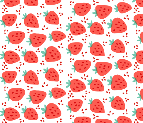 Strawberries - Rotated fabric by ellolovey on Spoonflower - custom fabric