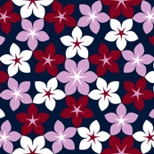 07473943 : U65 flowers 3 : navy orchid burgundy