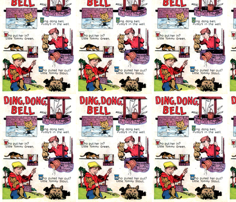 Ding Dong bell fabric by ae_fresia on Spoonflower - custom fabric