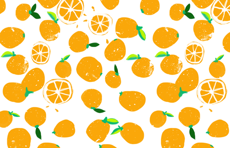 oranges_rotated fabric by wingmade on Spoonflower - custom fabric