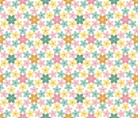 07474542 U65 Flowers 3 Spring Fabric Sef Spoonflower