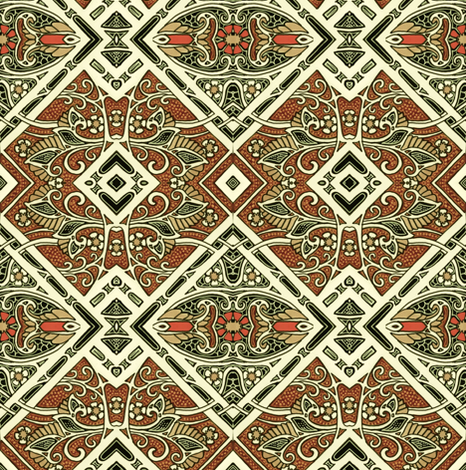 Echo of Deco fabric by edsel2084 on Spoonflower - custom fabric