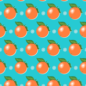 Sunkissed* (Television Blue) || orange oranges fruit leaves citrus flower flowers nature turquoise