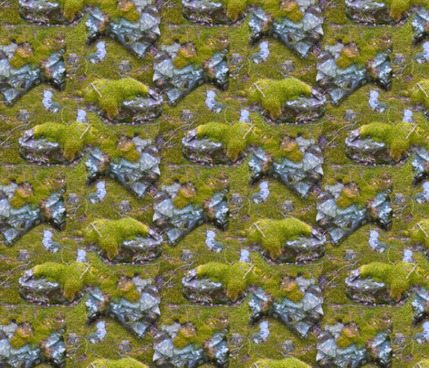 Mossy Mountain Rocks fabric by everhigh on Spoonflower - custom fabric
