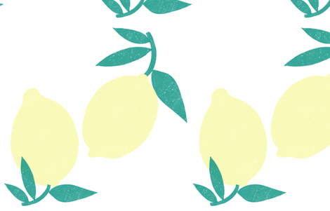 The biggest lemon fabric by anda on Spoonflower - custom fabric