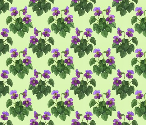 Watercolor_wild_violets_purple_on_green_shop_preview