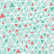 Pink and teal triangle pattern