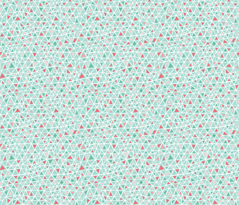 Pink and teal triangle pattern fabric by esther_loopstra_illustration on Spoonflower - custom fabric
