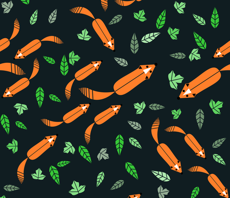 Hunter and Hunted fabric by amy_maccready on Spoonflower - custom fabric