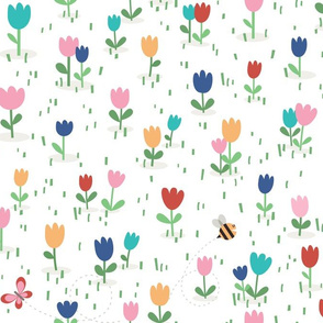 Gardening tulips flowers by unPATO