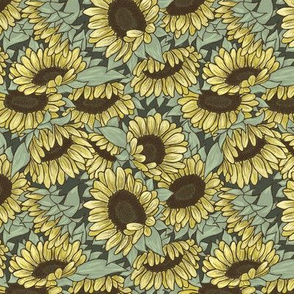 Sunflowers Green