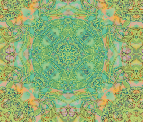 Kaleid Glowing Filigree Kaleided fabric by pissykrissy on Spoonflower - custom fabric