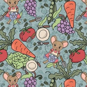 Miss Mouse Garden Party (Blue)