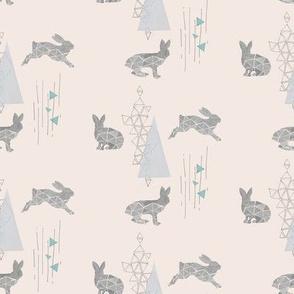 Geometric Hares on Cream