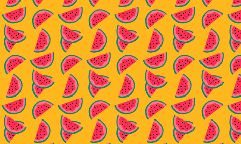 Watermelon Slices fabric by dreams_and_whimsy on Spoonflower - custom fabric