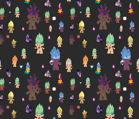 Mischievous Crystal Trolls fabric by mischievousdesign on Spoonflower - custom fabric