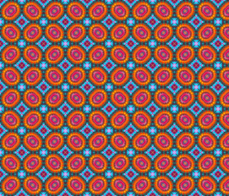 Psychedelic Sunflowers fabric by just_meewowy_design on Spoonflower - custom fabric