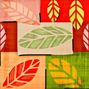 Nature Patches / fabric & Leaves Large