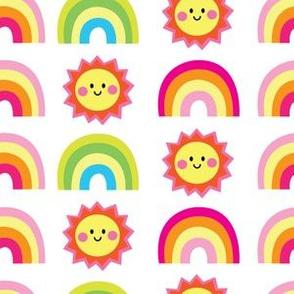 aloha lucky rainbow with sun on white
