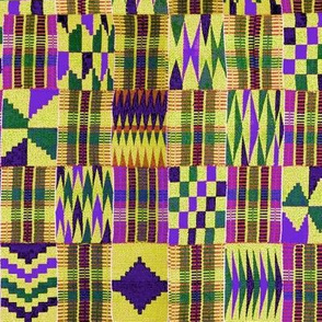Kente Cloth // Blue-Violet & Goldenrod // Small