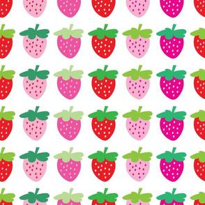 aloha strawberries 2 inch on white